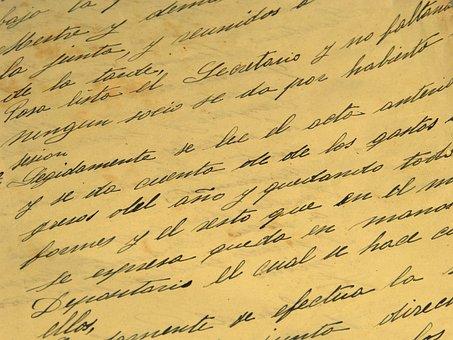 Writing, Manuscript, Letter, Document, Old, Pen, Ink