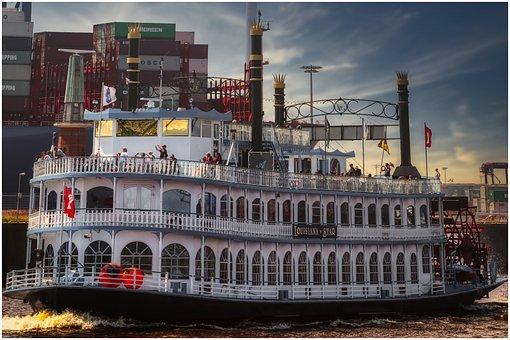 Ship, Hamburg, Passenger Ship, Paddle Steamer, Elbe