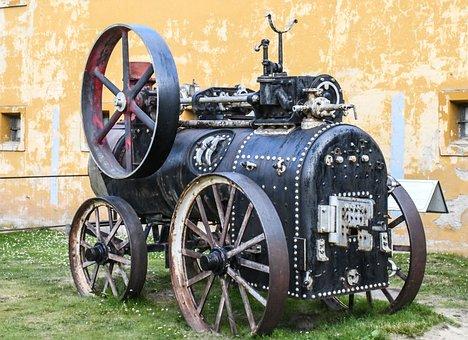 Machinery, Old, Vintage, Retro