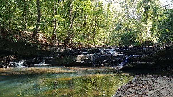 Water, Creek, Waterfall, Stream, Rock