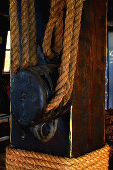 Rope, Ship, Tie, Knot, Sea, Boat