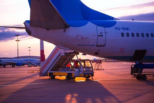 Airport, Vnukovo, Moscow, Summer, Sky