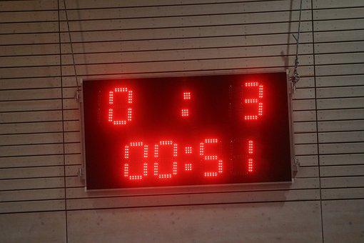 Ad, Scoreboard, Score, Time, Clock, Minutes, Seconds