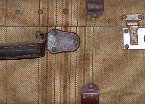 Suitcase, Detail, Vintage, Texture, Framework, Travel