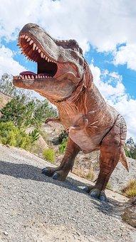 Dinosaur, Sky, Clouds, T Rex, Tyrannosaurus, Beast