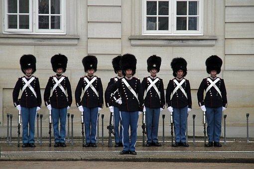 Royal, Guards, Copenhagen, Palace, Uniform