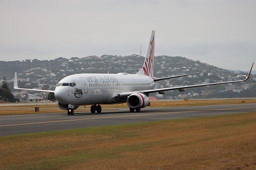 Boeing, 737, 800, Virgin, Airlines, Vh-yir, Landing