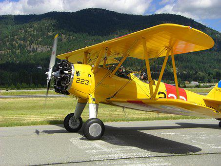 Tiger Moth, Biplane, Aircraft, Yellow, Vintage, Trainer