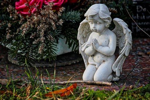 Cherub, Cemetery, Grave, Tombstone, Angel, Mourning
