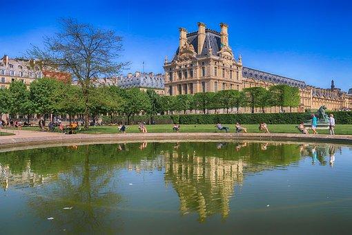 Paris, The-Louvre, Architecture, Museum