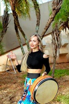 Brazilianwoman, Percussion, Bodhrán, Braziliancarnival