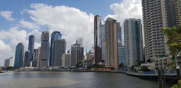 Brisbane, Skyline, City, Cityscape, Queensland