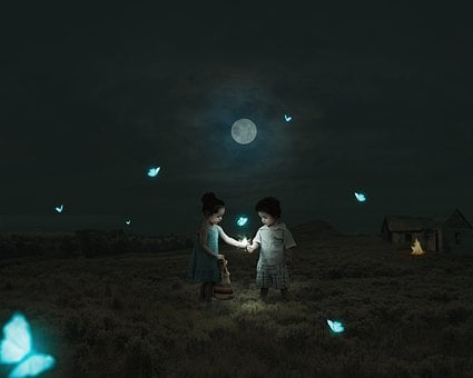 Love, Couples, Siblings, Butterflies, Beautiful Scene