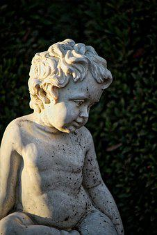 Cherub, Cemetery, Tombstone, Mourning, Angel
