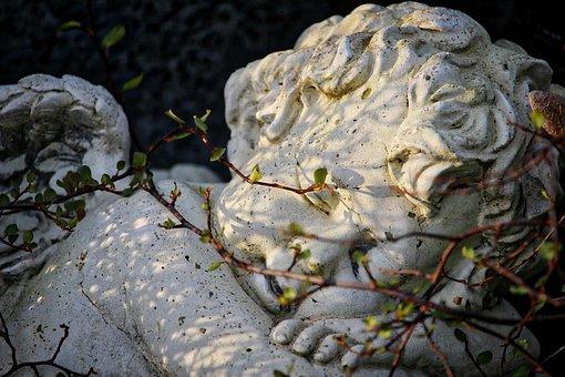 Cherub, Cemetery, Grave, Tombstone, Mourning, Angel