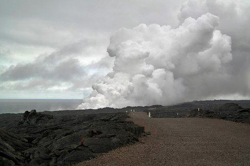 Cloud Of Smoke, Volcano, Lava, Geology, Cloud, Smoke