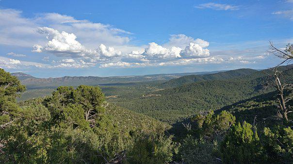 New Mexico, Sky, Clouds, Landscape, Outdoors, Mountains