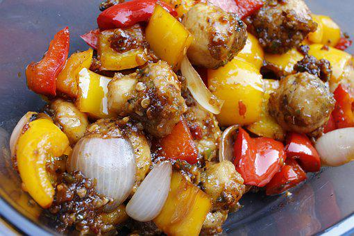 Food, Healthy, Mushroom, Vegetables, Desibond