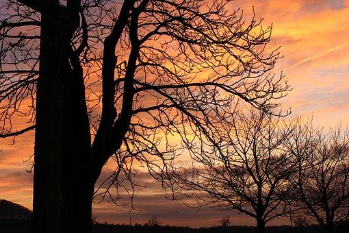 Sunset, Germany, City, Sky, Dusk, Clouds, Mood