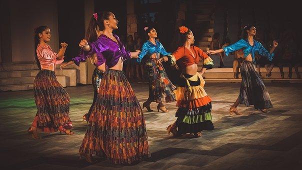 Girls, Dancers, Latin, Dance, Woman