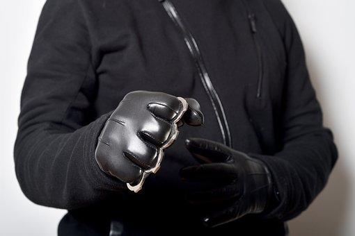 Hand, Human Hand, Gloves, Leather Gloves, Criminal