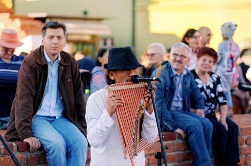 Man, Adult, Singing, Public, Nai, Attraction, Tourist