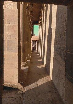 Temple, Aswan, Egypt, Nile, Pharaoh