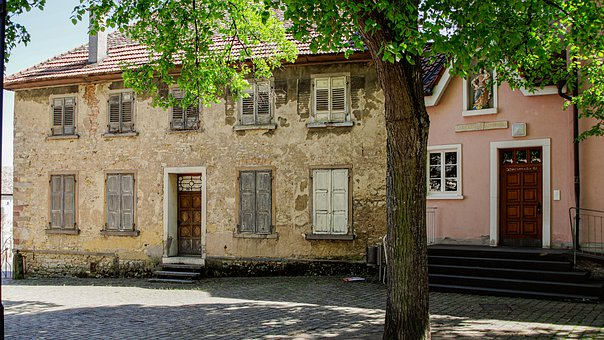 House, Old, Facade, Renovation, Palatinate