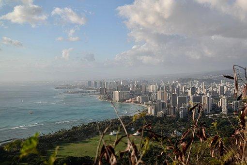 Big City, Honolulu, Coast, Panorama, Outlook, Hotels