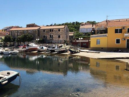 Croatia, Fishing Boat, Boats, Port, Town Of, Summer