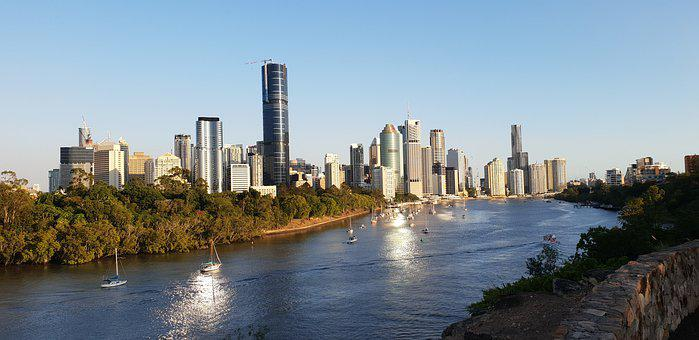 Brisbane, Queensland, Australia, City, River, Bridge