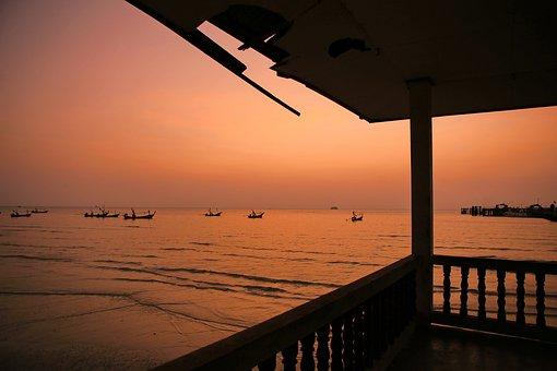 Seaside Pavilion, Sunset, Pristine, Seaside