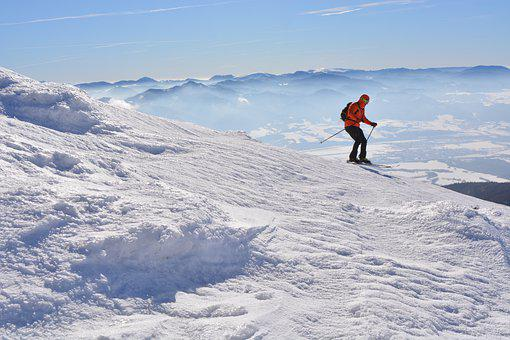 Alpine Skier, Skier, Snow, Mountains