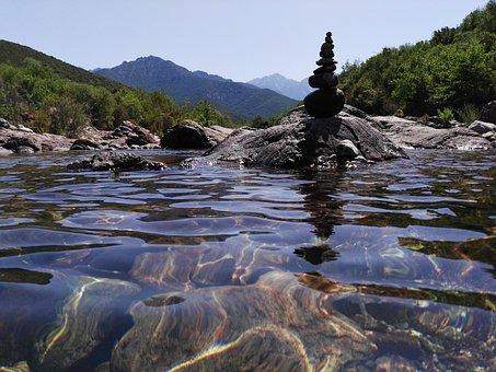 Cairn, Corsica, Gumpen, Source, Mountain Source, Water