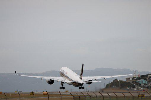 Airbus, A350, Singapore, Airlines, A350-900, Take-off