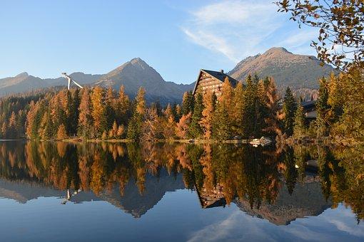 Strba Tarn, Vysoké Tatry, Tatry, High Tatras, Lake
