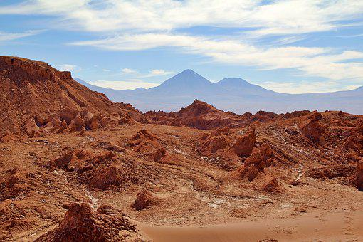 Chile, Valley, Mountains, Nature, Landscape, Sky