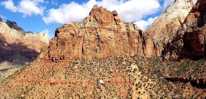 Zion, Zion National Park, Park, Canyon