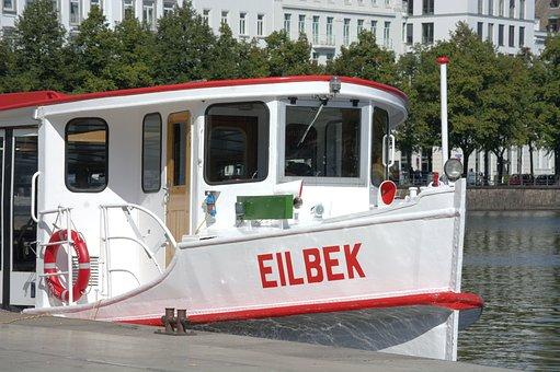 Boot, Ship, Travel, Leisure, Alsterdampfer, Eilbek