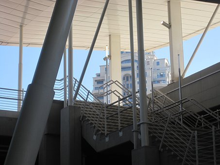 Roof, Railings, Poles, Uprights, Lines, Angles