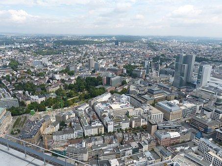 Frankfurt, Hesse, Skyscraper, Architecture, Main