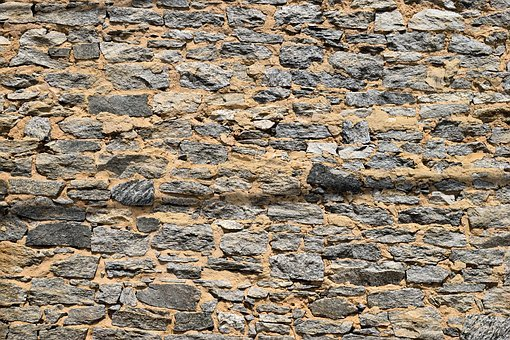 Stone Wall, Exterior, Building, Background, Backdrop