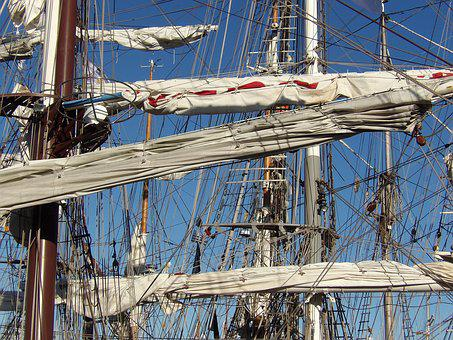Mast, Sailboat, Strings, Rope, Traditions, Blue Sky