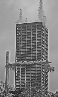 Blowing Up, Afe Tower, Frankfurt, Demolition, Explosion