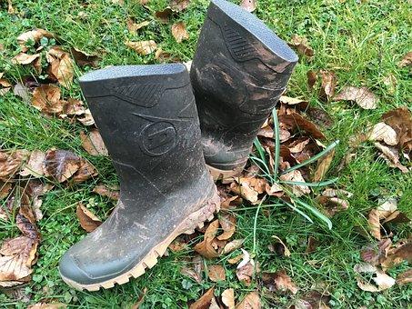 Rubber Boots, Garden, Gardening, Dirty