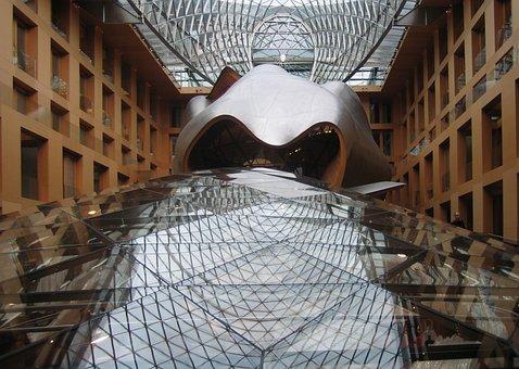 Dz Bank, Berlin, Frank Gehry, Glass Roof