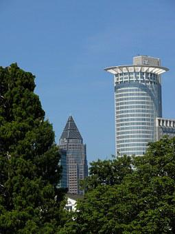 Bank, Bank Tower, Commerzbank, Euro, Facade, Frankfurt
