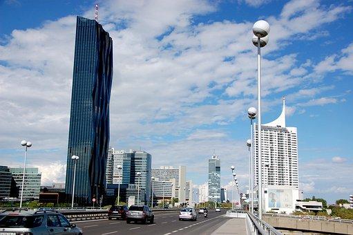 Vienna, Skyscraper, Austria, City, Europe, Urban
