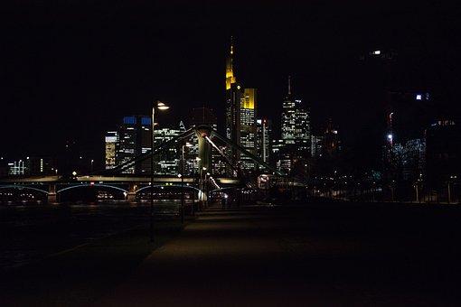 Frankfurt, Night, City, Frankfurt Am Main Germany