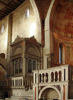 Basilica Patriarcale, Acquileia, Friuli, Church, Organ